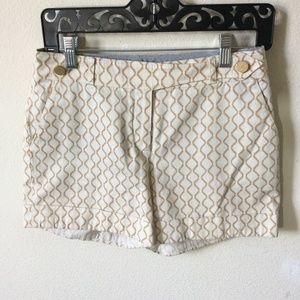 Anthropologie Meadow Rue Creamy Wave Work Shorts